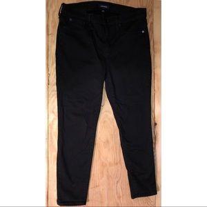 Black J Crew Toothpick Jeans